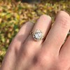 1.97ctw Antique Cluster Ring, GIA G SI2 26