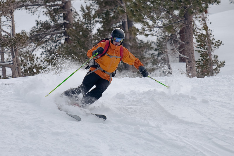 Skiing at Squaw (photo by Max Noy)