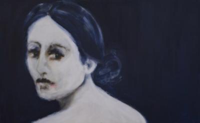 """""""Looking Back"""" (oil) by Julie Feldman"""