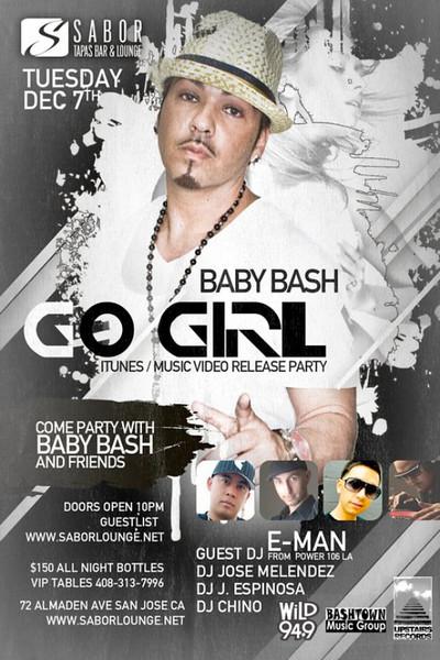 Amir & Galaxy Events presents $2 TUESDAYS w/ Baby Bash @ SABOR Tapas Bar & Lounge 12.7.10