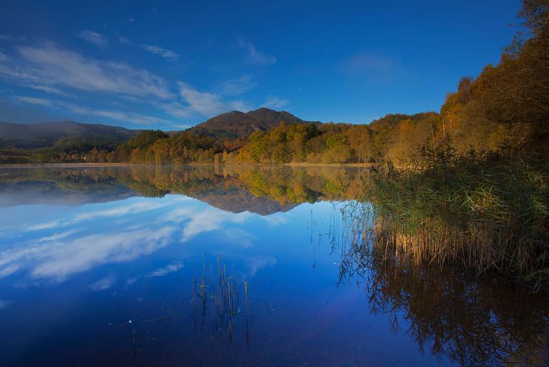 Ben Venue viewed across Loch Achray