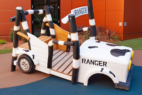 timber ranger car with seating and steering wheel
