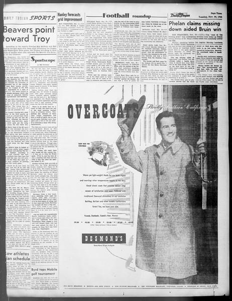 Daily Trojan, Vol. 37, No. 14, November 20, 1945