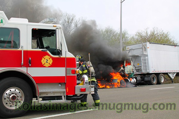 Truck Fire Express Drive South & Wicks Road [04.17.17]