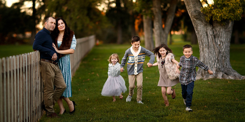 Sacramento family photographer during outdoor portrait session. Family pictures and children pictures at Gibson Ranch Park
