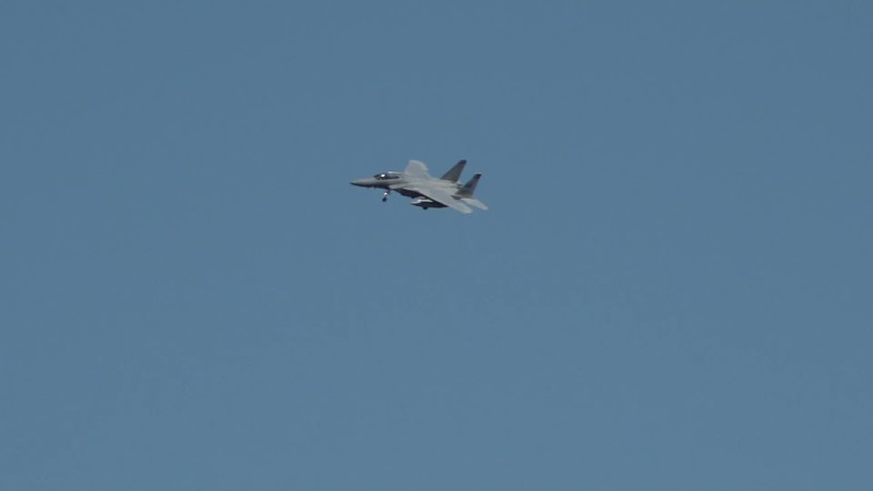 2-27-18...four of six F-15s banking around Russian church and Hampton Ponds