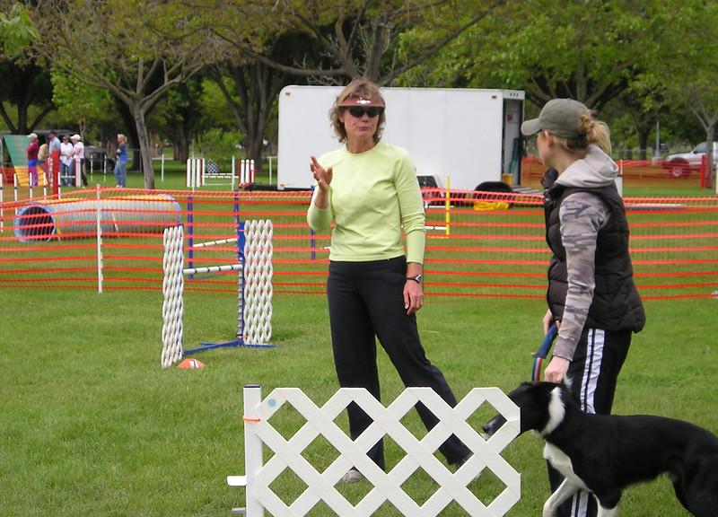 Sharon Freilich teaching dog agility