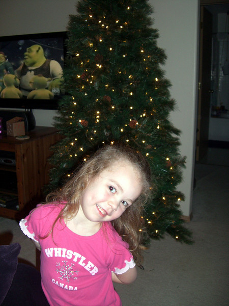 Decorating the Christmas tree (Dec. '08)!