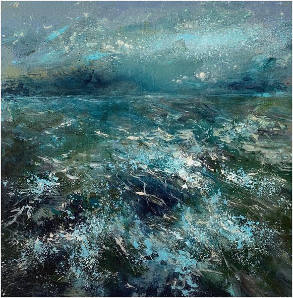"""Sea. Changeable mood."" (acrylic on canvas) by Natalia Khlivnenko"