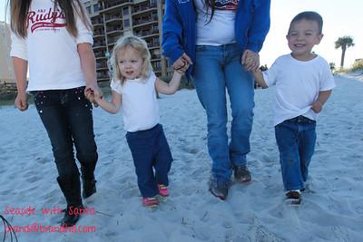 Caitlyn, Hunter and Christyn with Santa