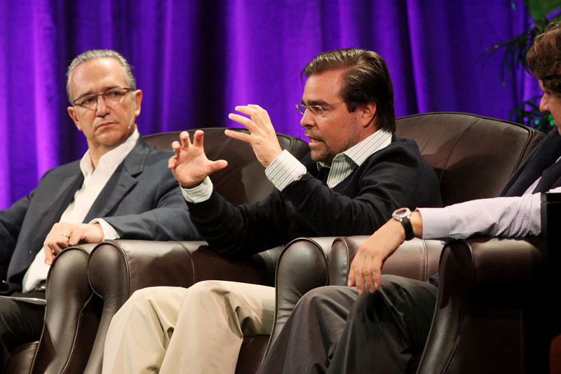 "Latin America: ""Mexico's Future: Business vs. Narcotics"" and ""Venezuela's Future: Living with Chavez"": (L-R) Ricardo Salinas, Chair, Grupo Salinas; David Brillembourg, President, The Brilla Group; and Nelson Ortiz, past President, Caracas Stock Exchange"