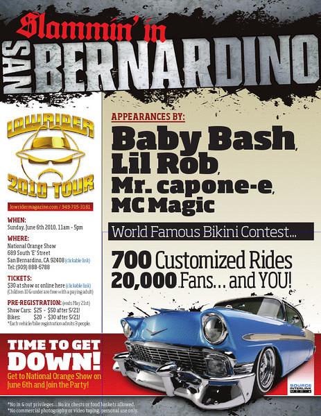 Lowrider 2010 Tour @ San Bernardino 6.9.10