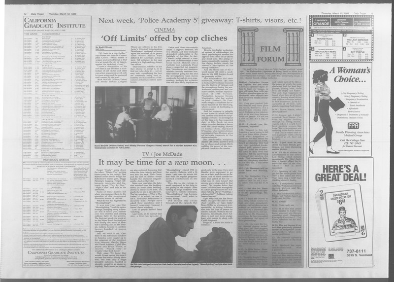 Daily Trojan, Vol. 106, No. 41, March 10, 1988