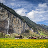 Beautiful Valley, Lauterbrunnen, Switzerland