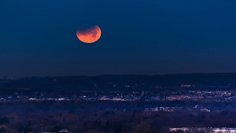 Setting Lunar Eclipse
