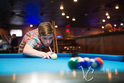 Colton playing pool