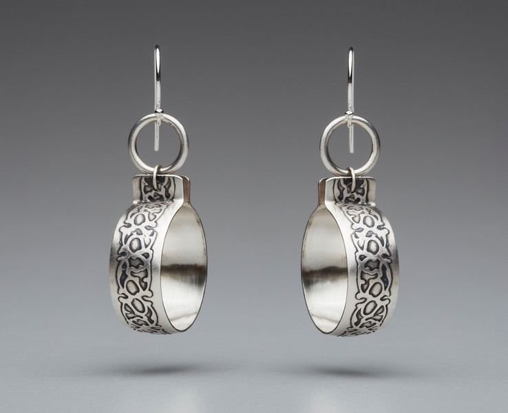 Jandi Burkett - Earrings http://www.jandiburkettmetalsmith.com/