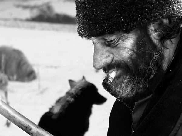 Aurel and his dog.  Romania -2005