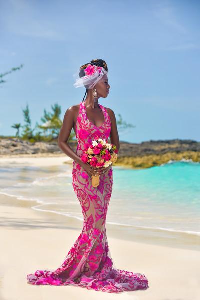 Black Bride in Pink