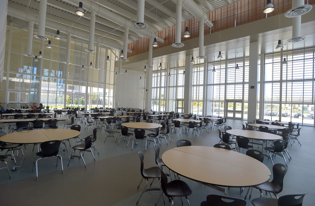 . The new cafeteria is at Leuzinger High School is ready for students in Lawndale, CA on Tuesday, August 19, 2014. Lawndale and Leuzinger high schools begin Wednesday and students will be working in new buildings that were constructed with bond money. (Photo by Scott Varley, Daily Breeze)