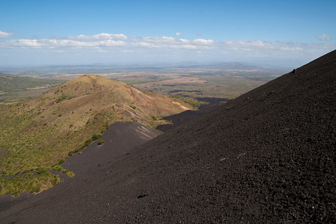 View halfway down the slope of the Cerro Negro Volcano