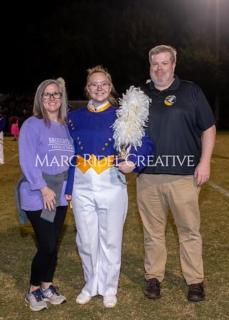 Broughton varsity football vs Cardinal Gibbons. Band and Dance Team Senior Night. October 25, 2019. MRC_3763