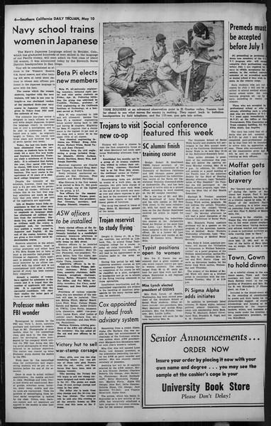 Daily Trojan, Vol. 34, No. 143, May 10, 1943