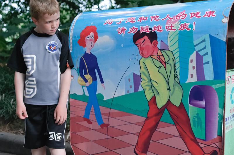 Die Unart überall zu spucken ist in China noch weit verbreitet.