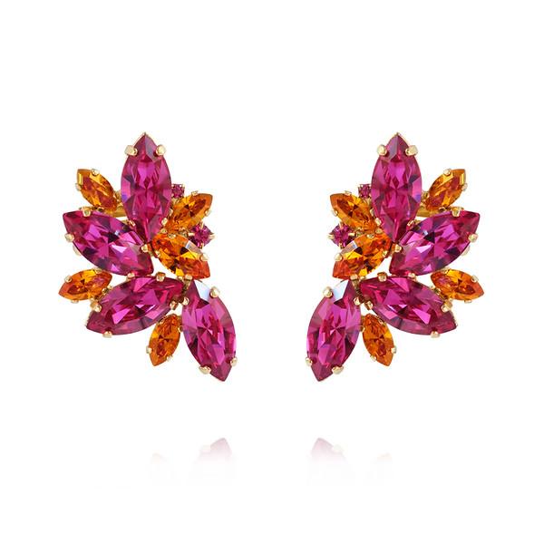 Iris Earcuffs / Fuchsia + Astral Pink Gold