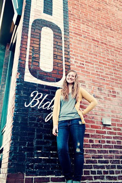 Becca outside her studio...