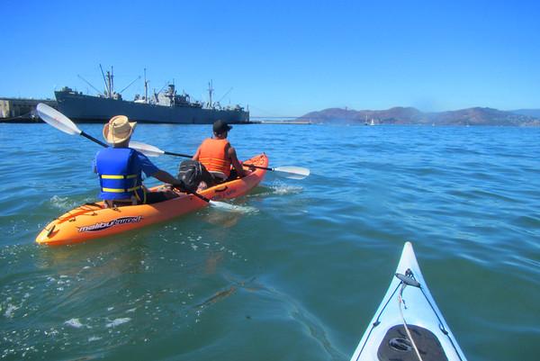 SF Bay Kayak to Aquatic Park: Sep 19, 2015