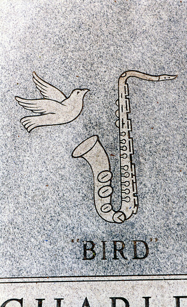 """Charles """"Bird"""" Parker Grave Lincoln Cemetery"""