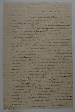 Letters Eliza Smith & Cossett & Susan Burley
