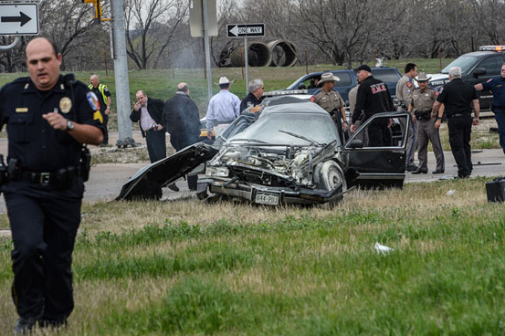 . A high speed pursuit that started with a deputy getting shot in Montague County ended with law enforcement and the suspect exchanging gunfire at a busy highway intersection in Decatur. The chase began at the intersection of U.S. 287 and and Highway 59 in Bowie. Montague County Sheriff Deputy James Boyd stopped the suspect, who was driving a black Cadillac with Colorado plates, on a routine traffic stop. During the stop, the suspect opened fire on the deputy, hitting him twice in the chest and once in the head. Montague County District Attorney Paige Williams said the deputy was in stable condition as of this afternoon. After the suspect crashed, he began shooting at officers again. A Wise County sheriff�s deputy returned fire, shooting the suspect in the head. Messenger photo by Joe Duty