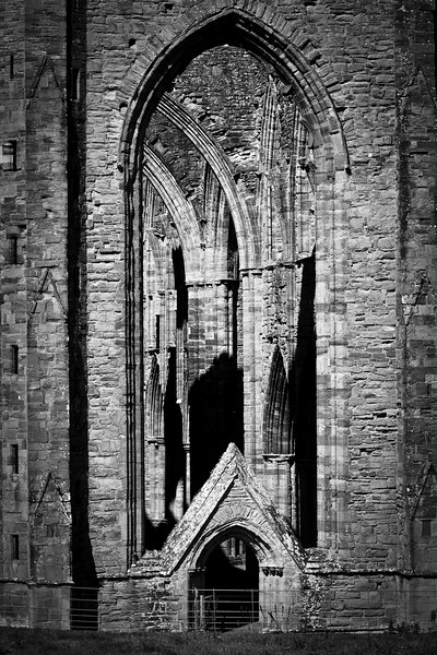 Tintern Abbey, Gwent, South Wales. NP16 6SE. Black and white 1