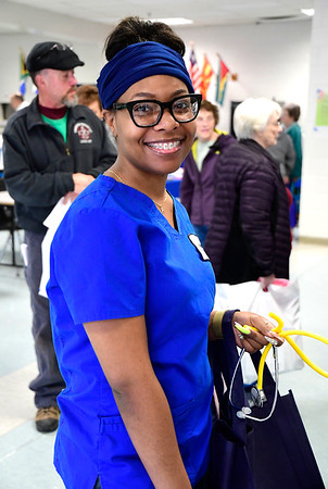 3/7/2020 Mike Orazzi   Staff Bristol Hospital's Jaionie Martinez during The Central Connecticut Chambers of Commerce's Family Health and Wellness Expo held at Bristol Eastern High School on Saturday.