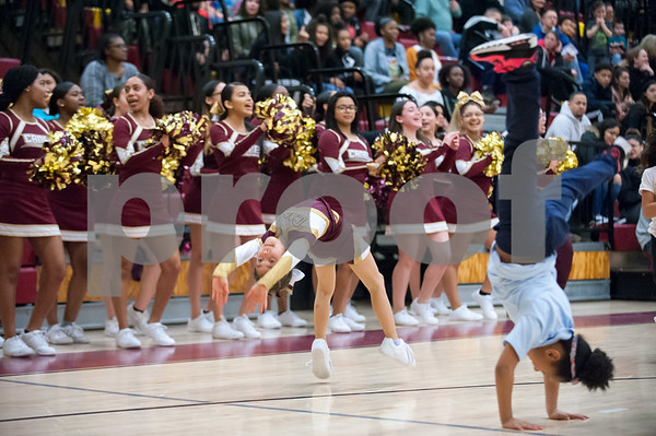 02/22/18 Wesley Bunnell | Staff New Britain boys basketball defeated Manchester 60-52 on Thursday night at New Britain High School.