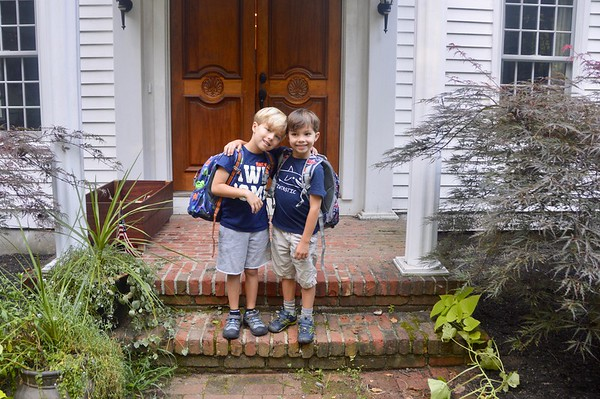 2018_09_04_Boys First day kindergarten