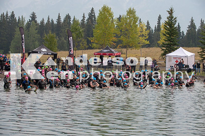 2018 Xterra Canmore Sprint Swim Start