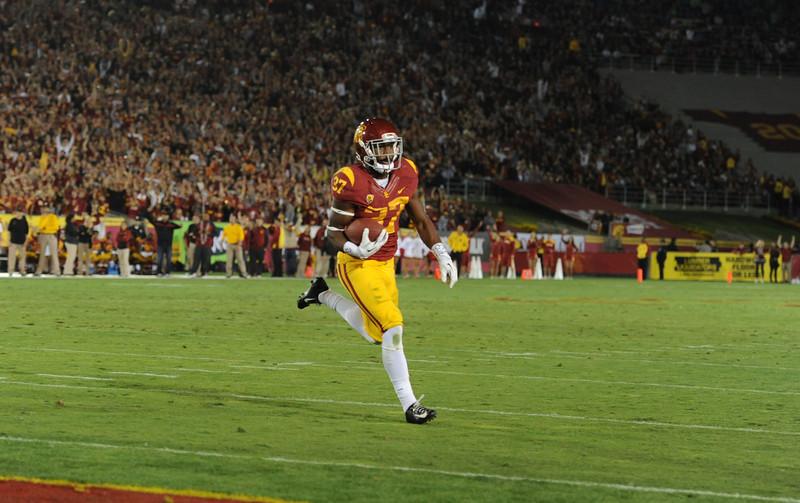 USC Trojans play the Stanford University Cardinal at the Los Angeles Memorial Coliseum, Saturday, November  26, 2013