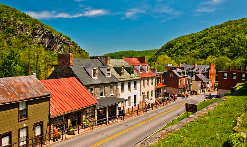 View of Town from aboive High Street, Harper's Ferry, WVA
