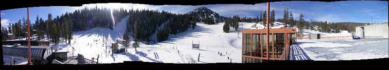 Panorama taken from the top of Canyon Lodge