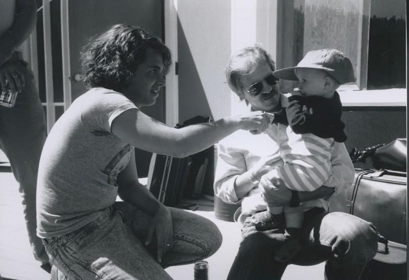 1988 - Michael Chabon & cute baby.jpeg