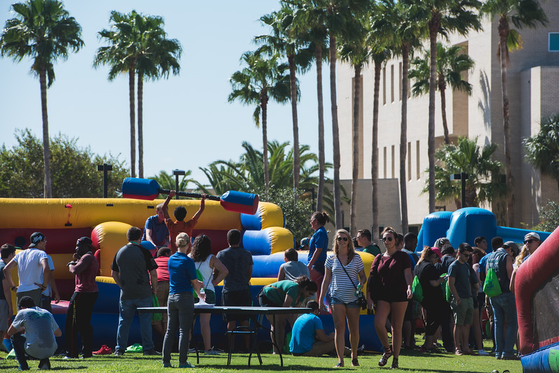 Students take part in the activities at the Islander Bash in East Lawn.