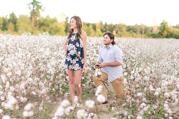 Nolan + Emily | Surprise Cotton Field Proposal