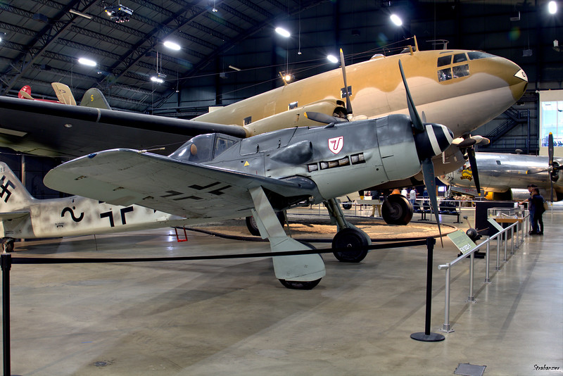 National Museum of the United States Air Force, Dayton, Ohio,   04/12/2019  Fw 190 D-9,  c/n  601088 and  Curtiss C-46D Commando, C/N: 33414 44-78018  This work is licensed under a Creative Commons Attribution- NonCommercial 4.0 International License.