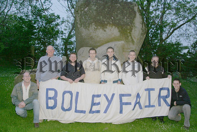 Committee members of the Boley Fair Hilltown are pictured at the launch of their programme,Members include Liam Arthurs (chairman), BJ Killen (secretary), John Cunningham (asst chairman), Seamus Parr & Ruairi Cousins (treasurers), Bob Fearon (pro), John Wilson and Shane Fitzpatrick. The Boley Fair will run from 7th - 11th July. 06W22N67