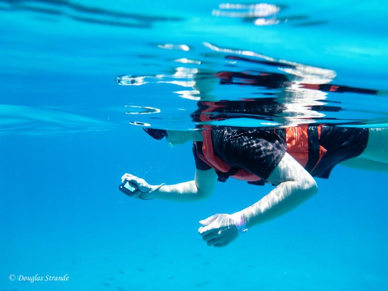 Jessica taking an underwater photo