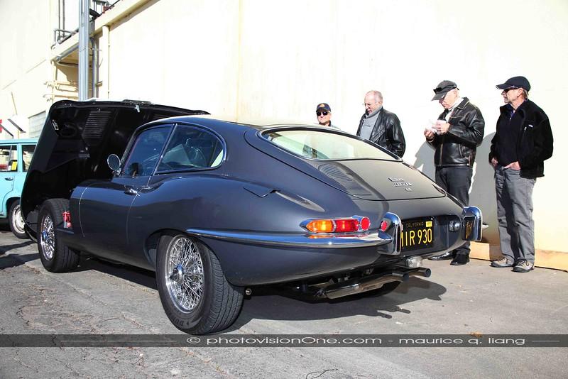 One of the favorites, Duke's recently restored Jaguar XKE.