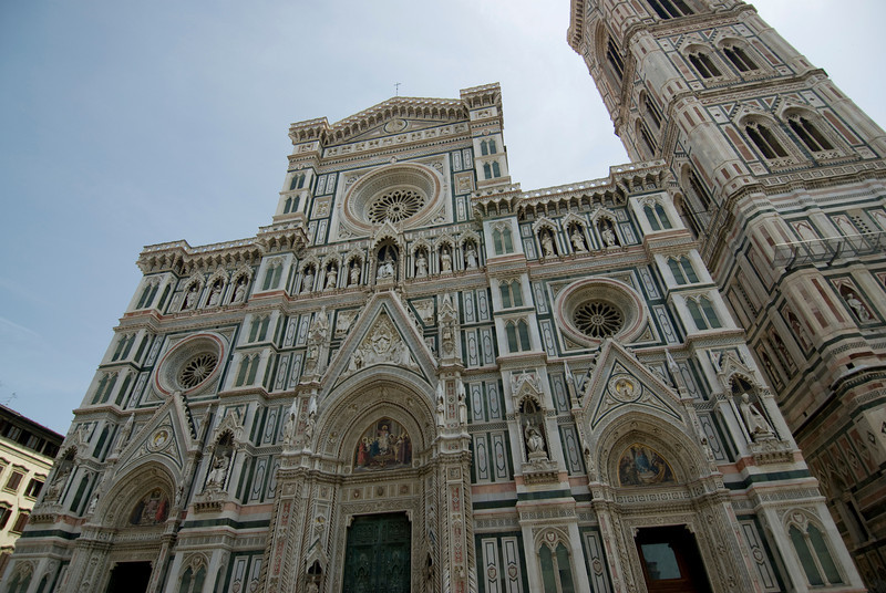 The Florence Cathedral facade in Florence, Italy